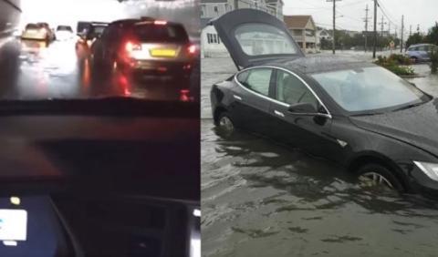 Vídeo: el Tesla Model S puede 'nadar'