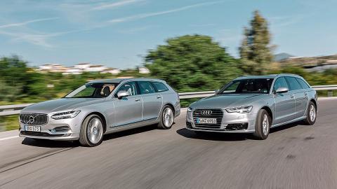 Cara a cara: Volvo V90 vs Audi A6 Avant