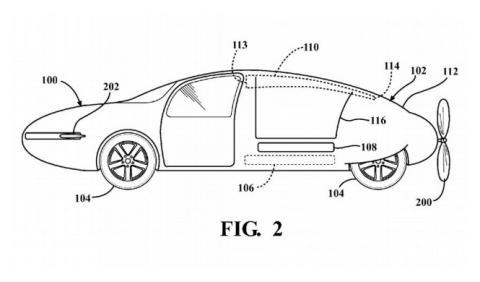 Toyota patenta un coche volador
