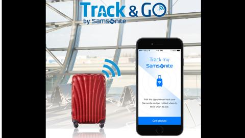 samsonite google app encuentra maleta