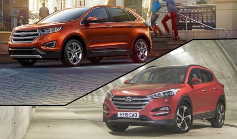 ¿Cuál es mejor, Ford Edge o Hyundai Tucson?