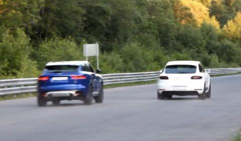 Drag race: Jaguar F-Pace vs Porsche Macan GTS