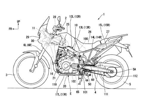 Patente Honda Transalp