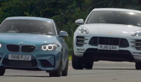 Duelo en circuito: BMW M2 Coupé contra Porsche Macan Turbo