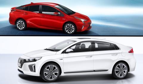 ¿Cuál es mejor, el Toyota Prius o el Hyundai Ioniq?