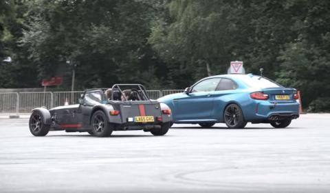 Drag Race a la inversa: Caterham, M2, Civic Type R vs Jeep