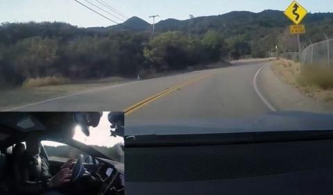 Vídeo: El Autopilot de Tesla en una carretera de curvas