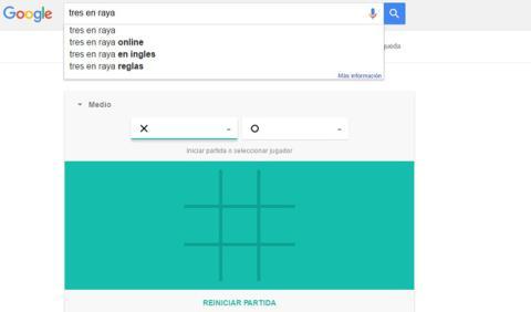 Google: ya puedes jugar al solitario o a las tres en raya