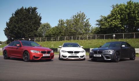 Vídeo: BMW M2, M4 y M4 GTS, batalla en casa