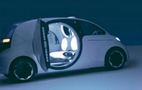 Así podría ser el futurista coche de Apple