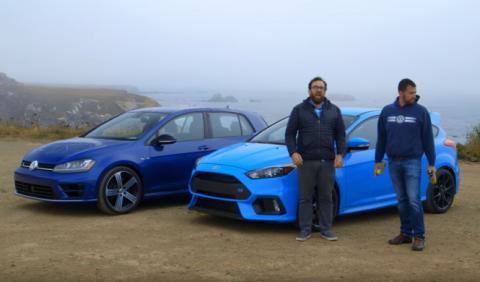 Vídeo: el Volkswagen Golf R y el Ford Focus RS, cara a cara