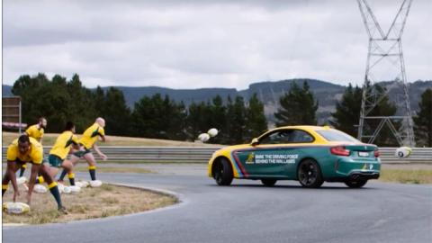 ¿Qué narices hace un BMW M2 jugando a rugby?