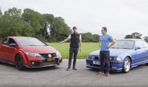 Vídeo: el BMW M3 E36 se enfrenta al Honda Civic Type R