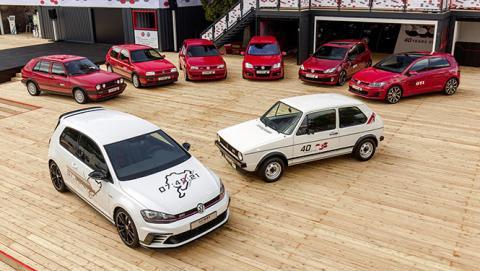 VW organiza la mayor concentración de Golf GTI de España