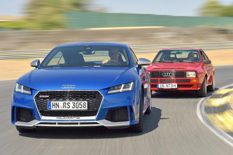 Duelo ayer y hoy: Audi TT RS vs Audi Sport quattro
