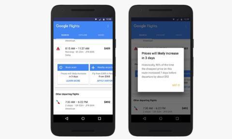 Google ahora te avisa de cuándo comprar vuelos baratos