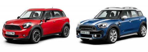Mini Countryman viejo y Mini Countryman nuevo
