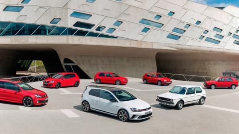 Siete generaciones del VW Golf GTI
