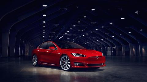 Tesla Model S P100D 2016 rojo coches eléctricos deportivo lujo