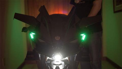 Faro e intermitentes Kawasaki H2R Homologada