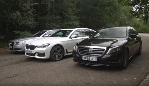 Puro lujo: BMW Serie 7 contra Mercedes Clase S y Audi A8
