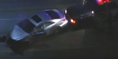 Vídeo: Persecución a toda velocidad con un Mercedes CLS