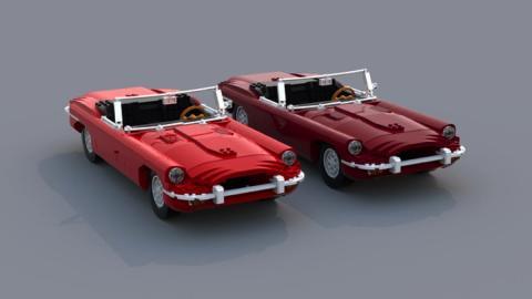 Jaguar E-Type de Lego frontal