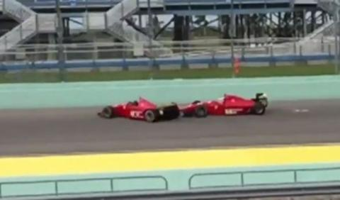 Vídeo: dos monoplazas clásicos de Ferrari chocan entre sí