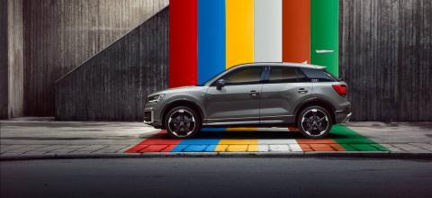 Silueta imponente del nuevo Audi Q2, el SUV más #untaggable de Audi