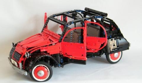 Este Citroën 2CV de Lego parece de verdad