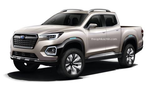 Así podría ser el posible pick-up de Subaru
