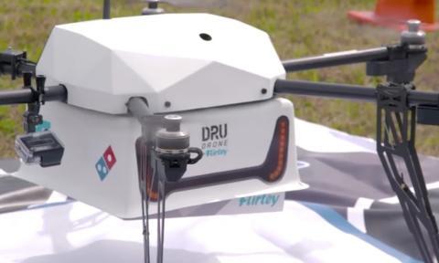 Ya hay servicio de pizza a domicilio ¡con drones!