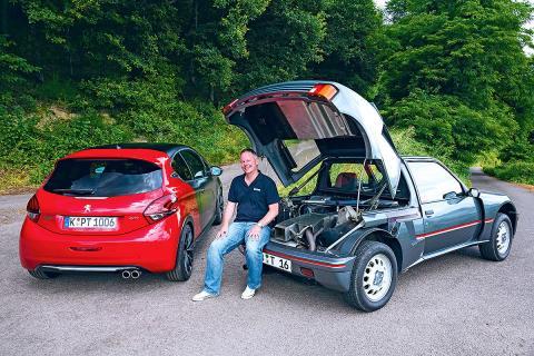 Duelo ayer y hoy: Peugeot 205 Turbo 16 vs Peugeot 208 GTi