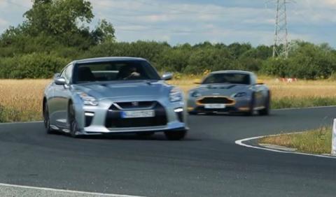 Duelo en la pista: Nissan GT-R vs Aston Martin V12 Vantage