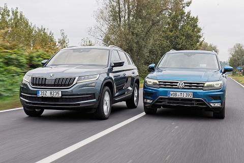 Cara a cara: Skoda Kodiaq vs VW Tiguan. ¿Gana el checo?