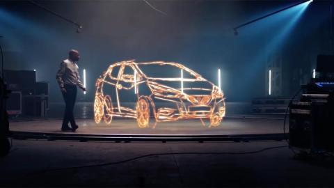 Dibuja en 3D un Nissan Micra gracias su memoria fotográfica