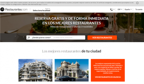 Michelin compra la web de reservas Restaurantes.com