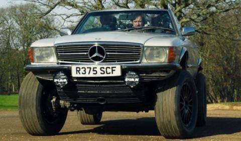 La creación más loca de The Grand Tour: Mercedes-Land Rover