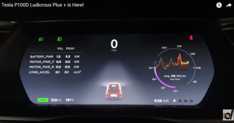 Tesla desvela el modo 'Ludicrous Plus' para los P100D