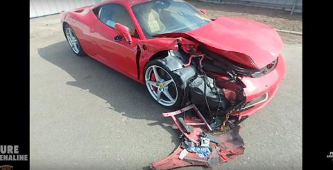 Vídeo: así estrella el Ferrari 458 que había alquilado