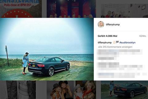 Este es al flamante Audi S5 de la hija del magnate, Tiffany