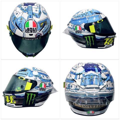 El casco de Valentino Rossi para los test de pretemporada