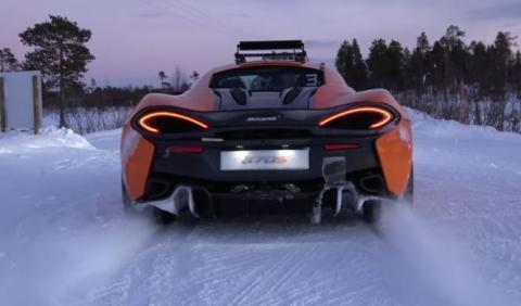 Vídeo: Bruno Senna se divierte con el McLaren 570S en nieve