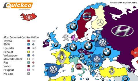 marcas coches más buscadas google