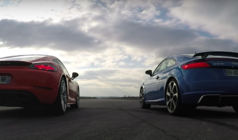 Vídeo: Audi TT RS vs Porsche 718 Cayman S