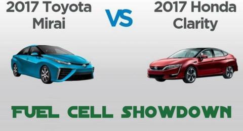 Hidrógeno al poder: Toyota Mirai VS Honda Clarity