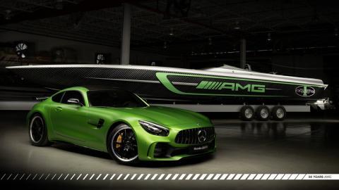 Cigarette Marauder 50 Mercedes-AMG GT R