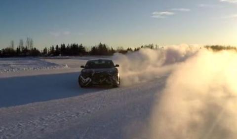 Vídeo: el Lucid Air y sus pruebas de drifting sobre nieve