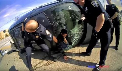 Vídeo: persecución policial con accidente incluido