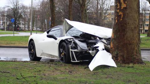 accidente Ferrari 458 Italia Ámsterdam